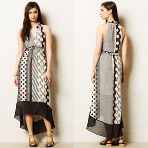 Anthropologie Maeve Channeled Dot Dress